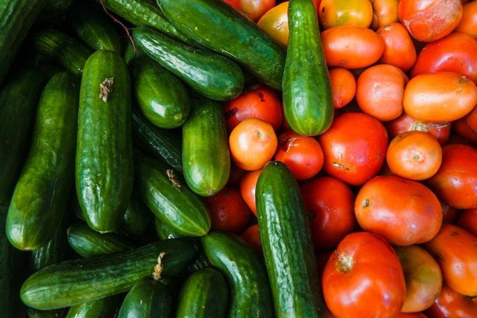 Cucumber, Tomato Salad