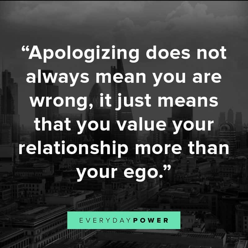 Apologize, forgive, make up,