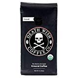 Death Wish Ground Coffee, The World's Strongest Coffee, Fair Trade and USDA Certified Organic, 16 Ounce  by Death Wish Coffee Co.