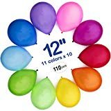 WinkyBoom Balloons Assorted Color 12 inches 110 Count Premium Quality Latex for Birthday Party Decorations  by WinkyBoom