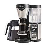 Ninja Coffee Maker for Hot/Iced/Frozen Coffee with 4 Brew Sizes, Programmable Auto-iQ, Milk Frother, 43oz Glass Carafe, and Tumbler (CF080Z)  by Ninja