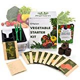 KORAM Vegetable Garden Starter Kit - 10 Organic Salad Seeds Organic Growing Kit DIY Gardening Starter Set with Everything a Gardener Needs for Growing Tomatoes Peppers Broccoli Cucumber Beets Kale  byKORAM  4.3 out of 5 stars224 ratings    |47 answered questions  Price:$24.99&FREE Returns