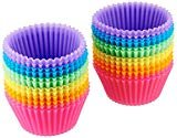 AmazonBasics Reusable Silicone Baking Cups, Muffin and Cupcake, Pack of 24  by AmazonBasics