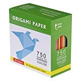 DOURA Origami Paper 750 Sheets Economy Pack with Storage -80gsm- 6 inch Square Sheet - 25 Vivid Colors for Gifts  by DOURA