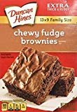 Duncan Hines Chewy Fudge Brownies 18.3oz Family Size - 2 Boxes by Duncan Hines  by Duncan Hines