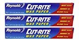 Cut-Rite Wax Paper by Reynolds 75 Sq.Ft - Pack of 3  byReynolds