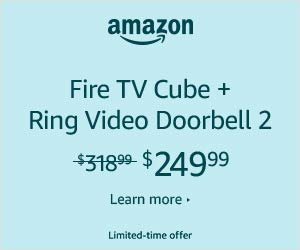 Fire tv cube and ring video doorbell 2