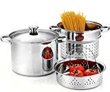 Cook N Home 02401 Stainless Steel 4-Piece 8 Quart Pasta Cooker Steamer Multipots,  byCook N Home