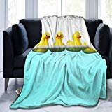 Foruidea Funny and Cute Tiled Yellow Rubber Ducky Flannel Throw Blanket Bed Blanket as Bedspread/Coverlet/Bed Cover Soft, Lightweight, Warm and Cozy 40x50 inch for Boys Girls  byForuidea