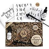 Calligraphy Starter Kit - Beginner Calligraphy Lettering Set - Beginning Modern Calligraphy DIY Kit - Oblique Pen Hand Lettering with Nib  by Wildflower Art Studio
