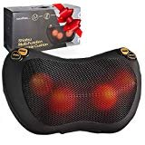 Zuzuro Shiatsu Pillow Massager with Heat – Electric Pillow Back & Neck Massager for Stress Relief & Ultimate Relaxation; Lower Back & Shoulder Massage Great gifts for men and women  by Zuzuro