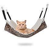 EONMIR Cat Hammocks for Cage, Soft Pet Bed Fit Ferret, Kitten, Puppy, Small Dog (Leopard)  byEONMIR