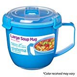 Sistema 21141 To Go Collection Soup Mug, Large, Varied, 1 count  by Sistema