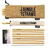 by Jungle Straws  Jungle Straws | 12 Reusable Bamboo Drinking Straws | Eco Friendly Alternative to Plastic | 8