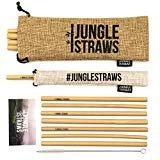 byJungle Straws  Jungle Straws | 12 Reusable Bamboo Drinking Straws | Eco Friendly Alternative to Plastic | 8
