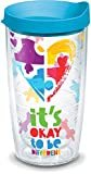 Tervis 1288317 Autism Puzzle Insulated Tumbler with Wrap & Lid, 16oz - Tritan, Clear  by Tervis