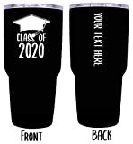 Customizable Class of 2020 Grad Graduation 24 oz Insulated Stainless Steel Tumbler Personalized with Custom Text (Black)  byR and R Imports