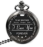 Brand: LEVONTA  LEVONTA Brother Birthday Gifts from Sister or Brother, to My Brother Pocket Watch, Brother Gifts Ideas for Christmas Graduation (to Brother Roman)