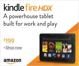 Shop Amazon - Kindle Fire HDX - A Powerhouse Tablet Built for Work and Play