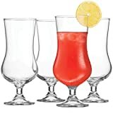 Bormioli Rocco (Set of 4) Cocktail Glasses Tulip Shaped - 17 Ounce Pina Colada Glass, Hurricane Glasses for Drinking Full Bodied Beer, Water, Juice, Lead-Free Bar Glass Italian Crafted Beer Glasses  byBormioli Rocco