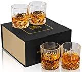 KANARS Old Fashioned Whiskey Glasses with Luxury Box - 10 Oz Rocks Barware For Scotch, Bourbon, Liquor and Cocktail Drinks - Set of 4  byKANARS