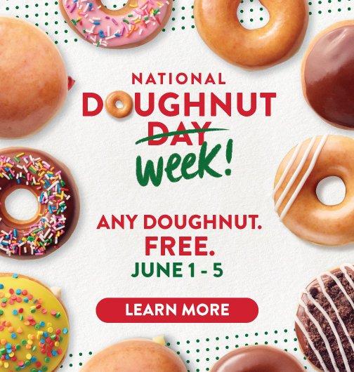 Krispy Kreme Free donuts