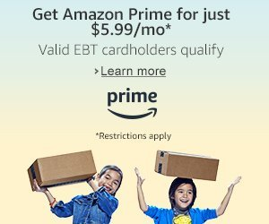 Prime is just $5.99/month for qualifying customers in select U.S. government assistance programs such as holders of the EBT card. - Enjoy the benefits of Prime at almost 50% off the regular monthly price