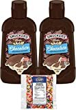 Smucker's Magic Shell Ice Cream Topping, Chocolate Flavor, 7.25 oz Bottles (Pack of 2) with By The Cup Rainbow Sprinkles  byBy The Cup