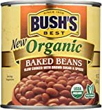 BUSH'S BEST Canned Organic Baked Beans, Source of Plant Based Protein and Fiber, Low Fat, Gluten Free, 16 oz  byBush's Best