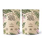 ChocZero's Keto Bark, Dark Chocolate Almonds with Sea Salt. Sugar Free, Low Carb. No Sugar Alcohols, No Artificial Sweeteners, All Natural, Non-GMO (2 bags, 6 servings/each)  byChocZero