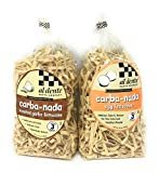 Carba-nada Reduced Carb Fettuccine Pasta Bundle Of Two 10 Ounces Bags: One Egg and One Garlic Roasted Fettuccine  by AL DENTE