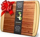 Greener Chef Extra Large Bamboo Cutting Board - Lifetime Replacement Cutting Boards for Kitchen - 18 x 12.5 Inch - Organic Wood Butcher Block and Wooden Carving Board for Meat and Chopping Vegetables  byGreener Chef
