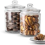 KooK Glass Storage Canister, Clear Jar, With Clear Glass Lid- 1/2 Gallon (Set of 2)  by KooK