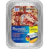 "Reynolds Disposable Lasagna Pans with Carriers & Lids - 13 1/4 X 9 5/8 X 2 3/4"", 3 Count  by Reynolds"