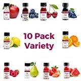 LorAnn Super Strength Pack #1 of 10 Fruity Flavors in 1 dram bottles (.0125 fl oz - 3.7ml) bottles  byLorAnn