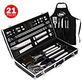 Kaluns Grill Accessories, Grill Set, 21 Piece Grilling Utensil Set, Heavy Duty Stainless Steel BBQ Tools Professional Grilling Accessories  by Kaluns