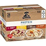 Quaker Instant Oatmeal, Protein 4 Flavor Variety Pack, 7g+ Protein, Individual Packets, 24 Count  byQuaker