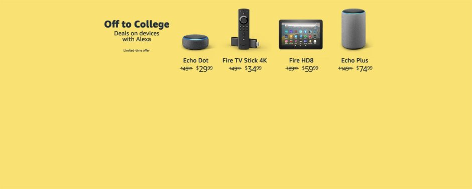 Amazon Device Deals  Deals, sales, and special offers on Echo & Alexa devices, Fire tablets, Fire TV, and more.